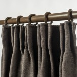 Linen Look Blackout Curtain Pinch Pleat Taupe