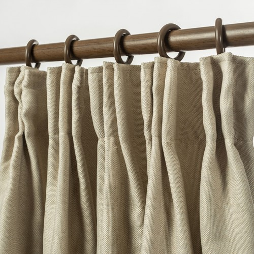 Linen Look Blackout Curtain Pinch Pleat Light Linen