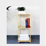 Display Shelf Compact Wooden Bookshelf Rack Shelf  3 Sizes