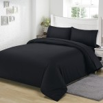Microfiber Bedding Set Black