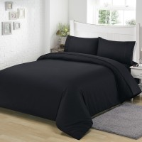 T/C Fabric Bedding Set Dark Black