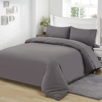 Microfiber Bedding Set Dark Grey