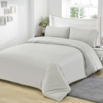 Microfiber Bedding Set Light Grey