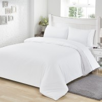 T/C Fabric Bedding Set White