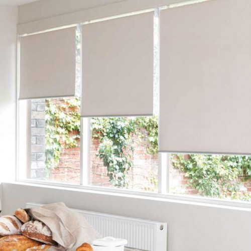 Modern Blackout Roller Blinds Commercial Quality White