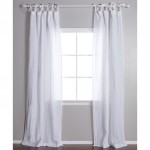 Poly-line Tie Top Curtain  1pc White