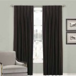 Blackout Pinch Pleat Curtain  Black 1Piece