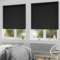 Modern Blackout Roller Blinds Commercial Quality Black