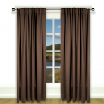 Blackout Pinch Pleat Curtain  Dark Brown 1 Piece