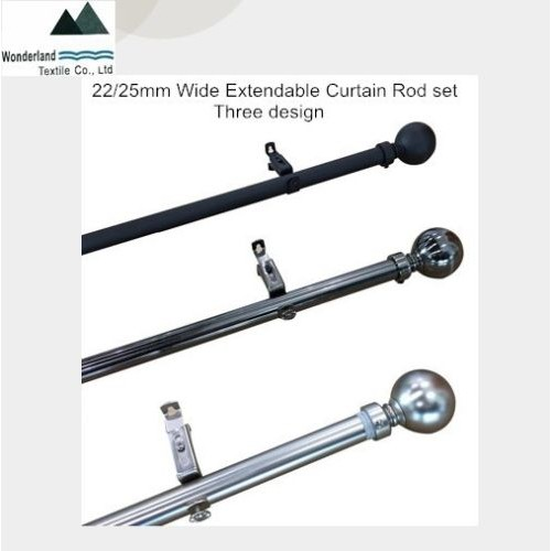 Curtain Rod Pole Set Extendable 165cm to 320 cm wide