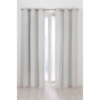 Blackout Eyelet Curtain Offwhite(Sliver) 1 Piece