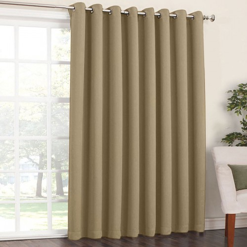 Blackout Eyelet Curtain Sand 1 Piece