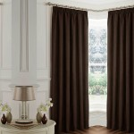 Blackout Pencil Pleat  Curtains Chocolate 1 Piece