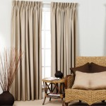 Blackout Pinch Pleat Curtain  Sand 1 Piece