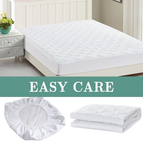 Fully fitted mattress protector waterproof white color
