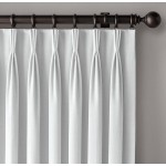 Microfiber Pinch Pleat Thermal Insulated Blackout Curtain Back Layer With Thermal Coating Pair