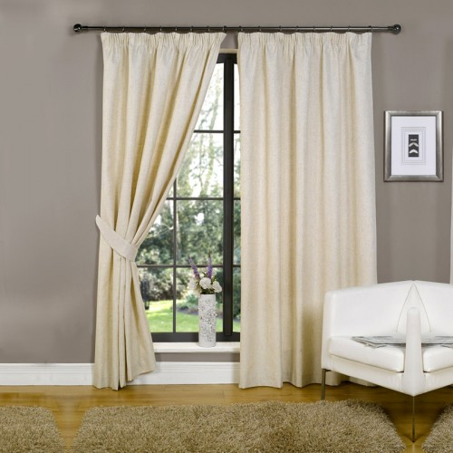 Blackout Pencil Pleat  Curtains Offwhite(Silver) 1 Piece