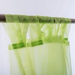 Organza Tab Top Curtain Green