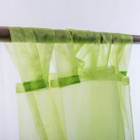 Organza Tab Top Curtain 2pc