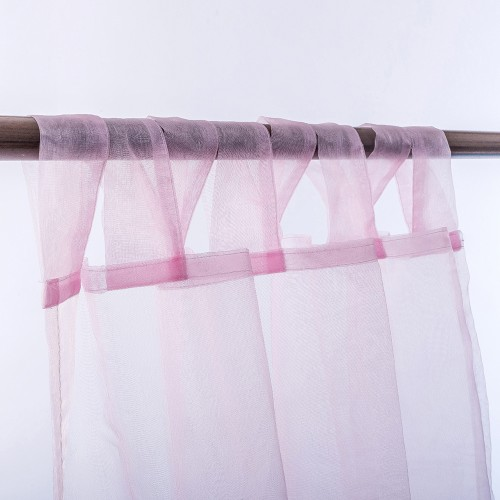 Organza Tab Top Curtain Pink