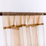 Organza Tab Top Curtain Beige-Gold