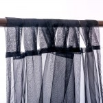 Organza Tab Top Curtain Black