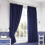 Blackout Pencil Pleat  Curtains  Dark blue 1 Piece