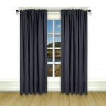 Blackout Pinch Pleat Curtain Dark Blue 1 Piece