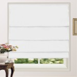 100% Blackout Pleated Roman Shade Blind White