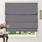100% Blackout Pleated Roman Shade Blind Dark Grey