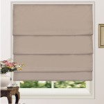 100% Blackout Pleated Roman Shade Blind Sand