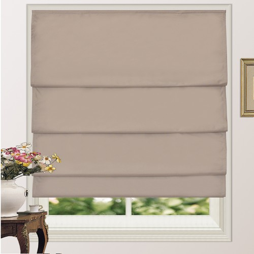 100 Blackout Pleated Roman Shade Blind Sand