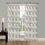 printed tab top curtain 135cmWx213cmD 1Panel