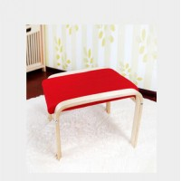 Wooden Dining Stool Foot Chair Comfortable Round & Square Red Color